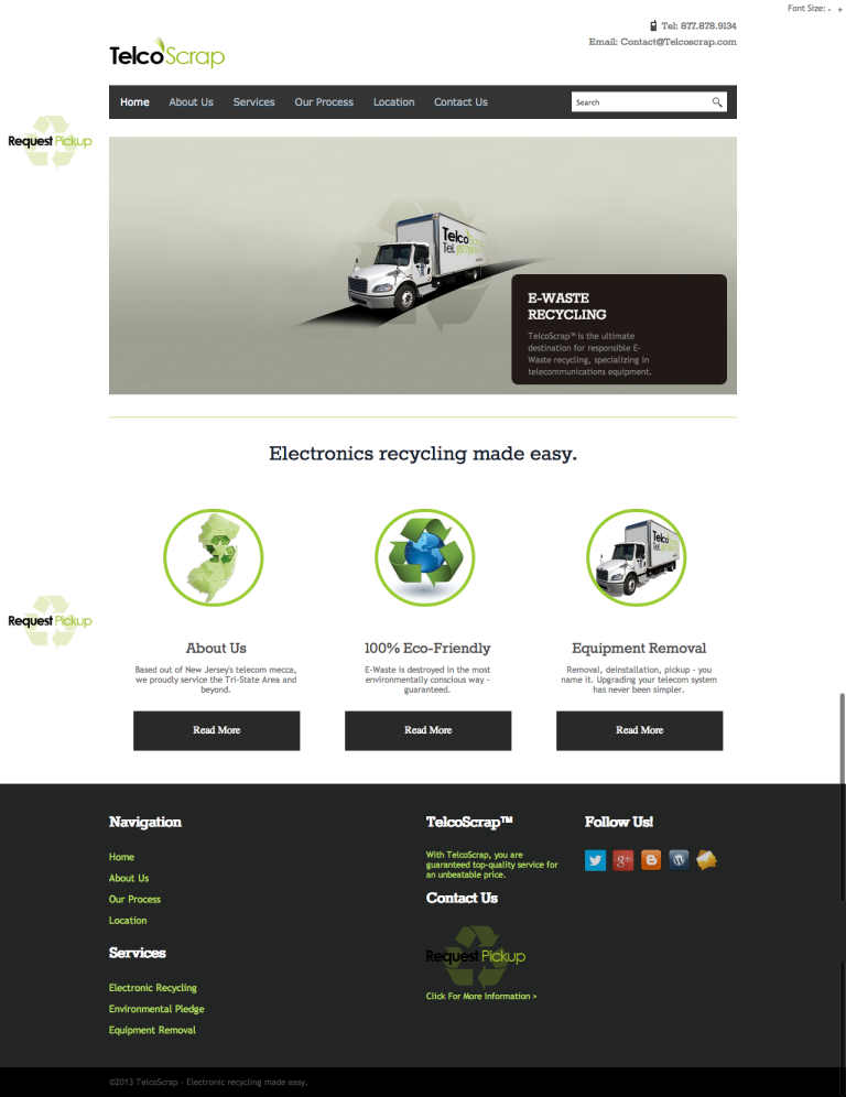 TelcoScrap home page